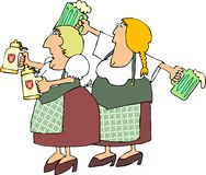 Deutsche Bier-Maide Lizenzfreies Stockfoto
