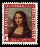 Deutsche Briefmarke Mona Lisa stockfotografie