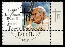 Deutsche Briefmarke Papst-John Paul II Stockfotos