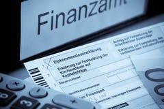 Deutsche Einkommenssteuererklärung Lizenzfreie Stockbilder