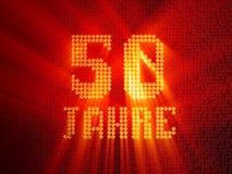 Deutsche goldene Zahl f?nfzig Jahre 3d ?bertragen lizenzfreie abbildung