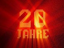 Deutsche goldene Zahl zwanzig Jahre 3d ?bertragen lizenzfreie abbildung