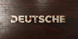 Deutsche - grungy wooden headline on Maple  - 3D rendered royalty free stock image Stock Image