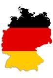 Deutsche Karte Lizenzfreies Stockfoto