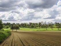 Deutsche Landwirtschaftsfelder Stockbild