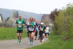 deutsche maratonu weinstrasse Obraz Royalty Free