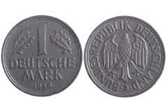 Deutsche mark coins Royalty Free Stock Images
