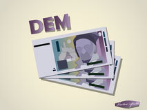 Deutsche mark money paper minimal vector graphic design Royalty Free Stock Photography
