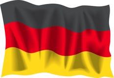 Deutsche Markierungsfahne Lizenzfreies Stockbild