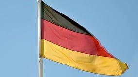 Deutsche Markierungsfahne stock video footage