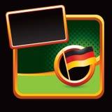 Deutsche Markierungsfahne auf stilisiert Fahne Lizenzfreie Stockfotografie