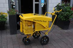 Deutsche poczta w Flensburg Niemcy zdjęcia royalty free