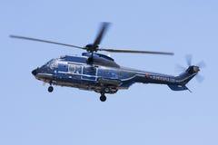 Deutsche Polizei-Hubschrauberlandung Lizenzfreie Stockbilder