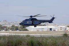 Deutsche Polizei-Hubschrauberlandung Stockbild