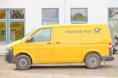 Deutsche Post-auto Royalty-vrije Stock Foto's