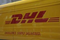 DEUTSCHE POST DHL GROUP VAN Royalty Free Stock Images