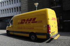 DEUTSCHE POST DHL GROUP VAN Royalty Free Stock Image
