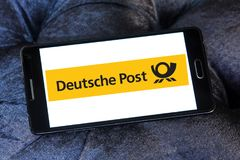 Deutsche Post logo Fotografia Stock