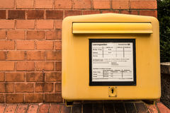 Deutsche Post mailbox Royalty Free Stock Photography