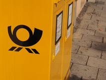 Deutsche Post mailbox Royalty Free Stock Photo