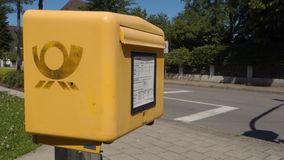 Deutsche Post mailbox stock footage