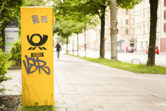Deutsche Post mailbox Royalty Free Stock Images