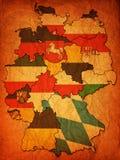 Deutsche Provinzen (Zustände) Stockfoto