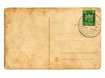 Deutsche Reichpostkarte stockbild