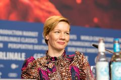 Deutsche Schauspielerin Sandra Hueller während Berlinale 2018 lizenzfreies stockbild