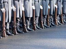 Deutsche Soldaten des Garderegiments Lizenzfreie Stockfotos