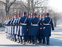 Deutsche Soldaten des Garderegiments Stockbild
