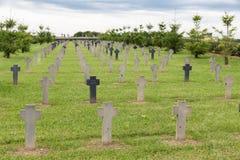 Deutsche Soldaten des Kirchhofs WW1, die am Kampf von Verdun starben Stockfotos