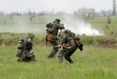 Deutsche Soldaten von WW2 Stockfotografie