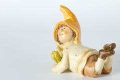 Deutsche Spielzeugzwerge der Weinlese mit Mais Lizenzfreie Stockfotos