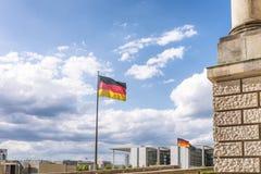 Deutsche Staatsflagge Lizenzfreies Stockbild