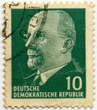 Deutsche stamp. Old deutsche mail stamp, German democratic republic royalty free stock photography