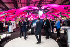 Deutsche Telekom company on exhibition Cebit 2017 in Hannover Messe, Germany royalty free stock image