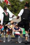 Deutsche traditionelle Tänzer Stockfotos