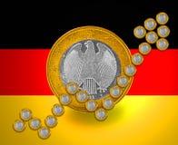 Deutsche Wachstum Flagge Stockbild
