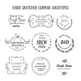 Deutsche Weinleseausweise und -ikonen Lizenzfreies Stockbild