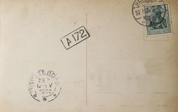 Deutsche Weinlesepostkarte 1909 Stockfotografie