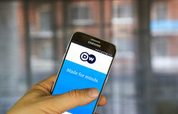 Deutsche Welle android application. Royalty Free Stock Photo