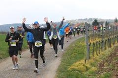 deutschemaratonweinstrasse Fotografering för Bildbyråer