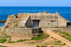 Deutscher atlantischer Wand-Bunker, Jersey Stockbild