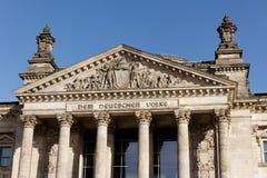 Deutscher Bundestag in Berlin Deutschland stockfotografie