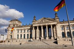 Deutscher Bundestag German Parliament Stock Photography