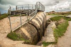 Deutscher Bunker von Pointe du Hoc Stockbilder