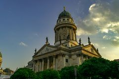 German Dome in Berlin, Germany, at sunset royalty free stock photos