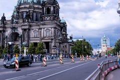 Deutscher Dom który jest Protestanckim katedrą w Berlińskim Niemcy Zdjęcie Stock