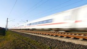 Deutscher EIS-Hochgeschwindigkeitszug stock video footage